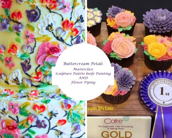 buttercream palette knife painting and flower piping masterclass